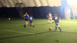 Dribbling Fast Keep ball 2 feet in front James at Soccer Camp Genesee Fieldhouse Grand Blanc