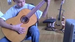 Ellyas Montes, God rest ye merry gentelmen on clasical guitar.AVI for james Hunley