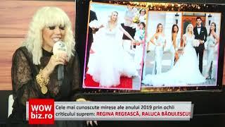 Fashion police Raluca Badulescu! Cele mai cunoscute mirese ale anului 2019 primesc verdictul suprem!