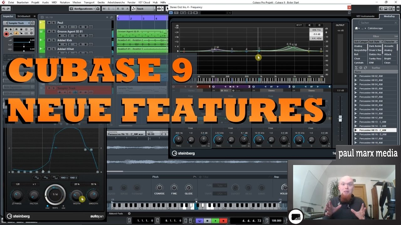 cubase 9 review neue features in cubase elements artist und pro german youtube. Black Bedroom Furniture Sets. Home Design Ideas
