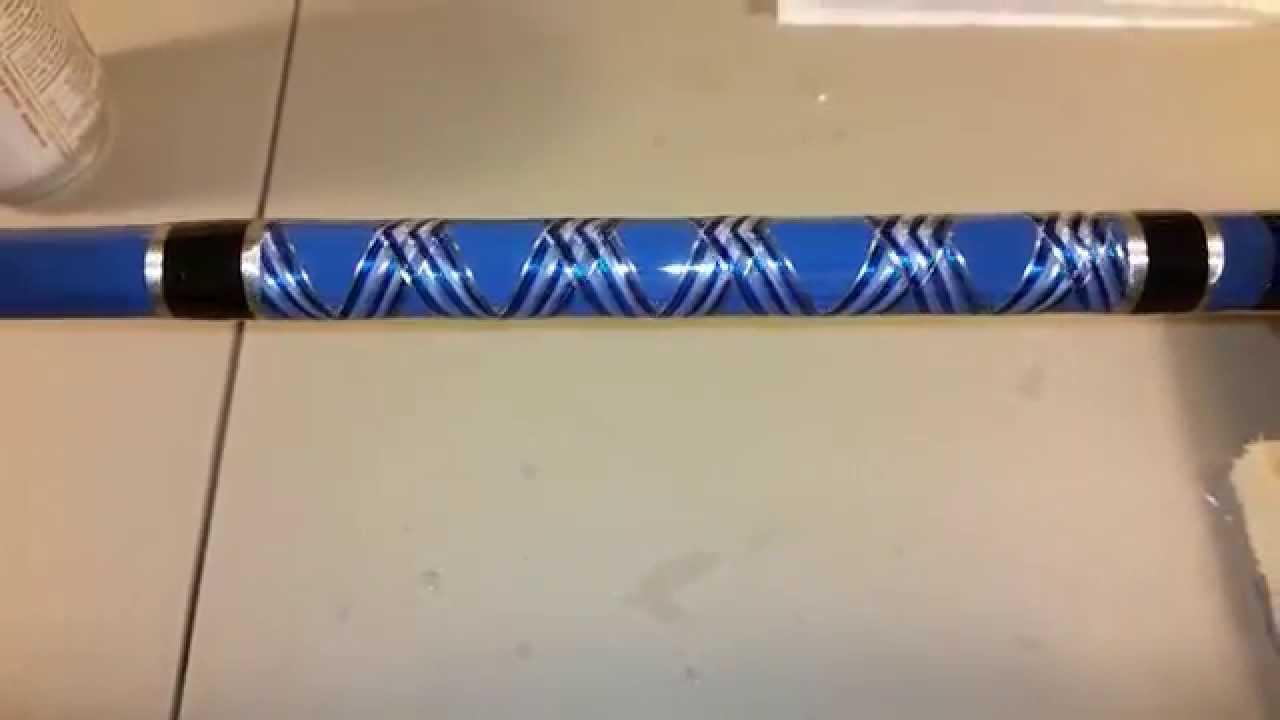 Custom fishing rod decorative wrap youtube for Fishing rod wraps
