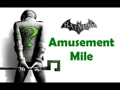 """""""Batman Arkham City"""", ALL Riddler's challenges (trophy/secret/riddle) - Amusement Mile"""