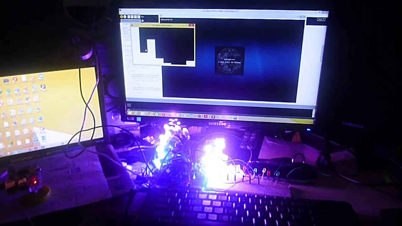Music visualization through led lights ws arduino