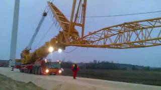 deme macarale ltm 1500-8.1 travelling into wind farm
