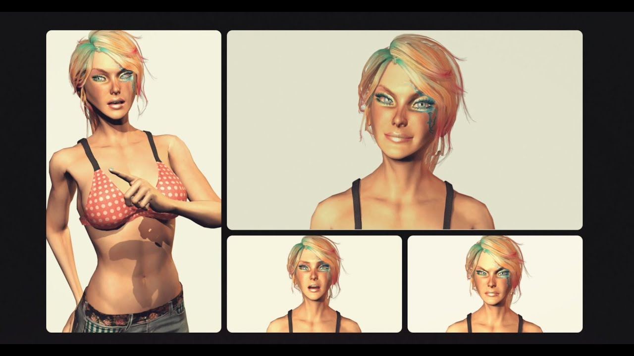 Character Design Unity : Izzy intro iclone unlimited game character design