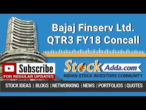 Bajaj Finserv Ltd Investors Conference Call Q3FY18