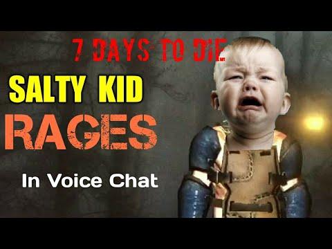 Salty Kid Rages! 7 Days To Die PVP