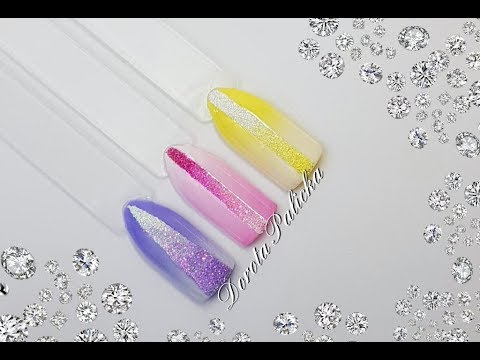 ombre sugar effect nail trend 2019 pastel gel polish