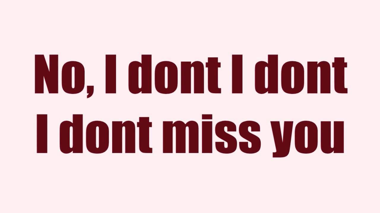 Amy Pearson Dont Miss You Lyrics Youtube