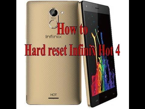 hard reset infinix hot 4