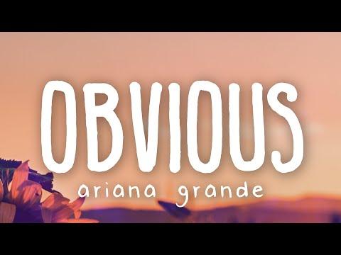 Ariana Grande - obvious (Lyric Video)