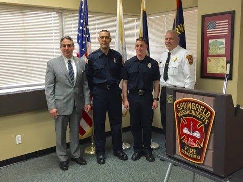 Springfield Fire Department swears in 2 new recruits (video)