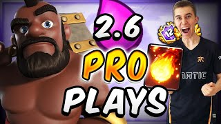 UNBREAKABLE DEFENSE! Pro Plays w/ 2.6 HOG RIDER CYCLE DECK  — Clash Royale