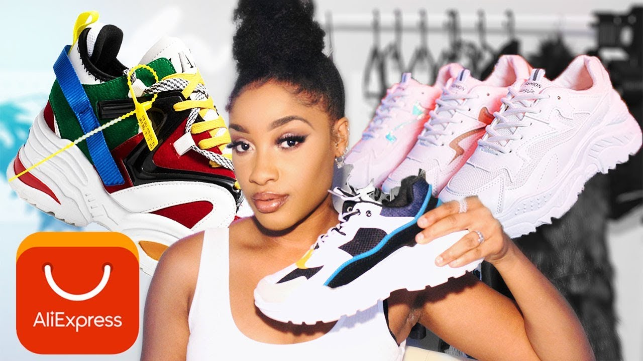 Aliexpress TRY ON Chunky sneakers UNDER