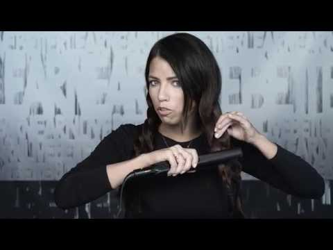 Hairstyle Tutorial: How to Create Quick Waves Using a Flat Iron / Hair Straightener and Braid