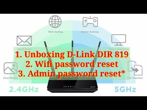 D-Link DIR 819 router Unboxing | Wifi ID & Password reset | Admin password reset | latest technology