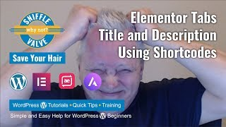 Elementor - Tabs Title and Description with Shortcodes