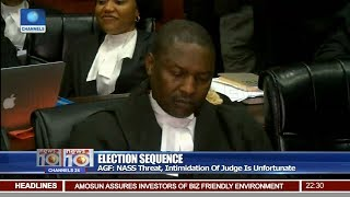 AGF Says NASS Threat, Intimidation Of Judges Is unfortunate Pt.2 |News@10| 20/03/18