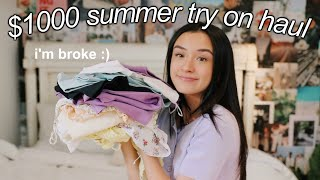 $1000 SUMMER TRY ON CLOTHING HAUL! *online shopping*