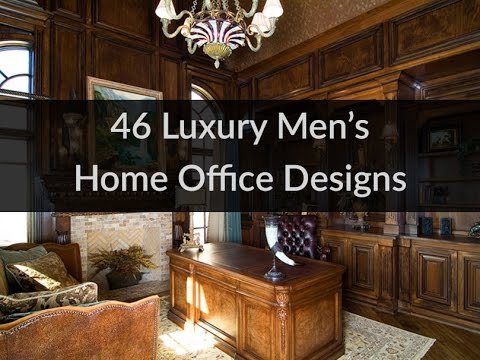 46 luxury men 39 s home office designs youtube for Home office design ideas for men