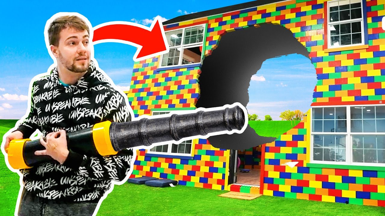 MY LEGO HOUSE EXPLODED BY A CANNON!