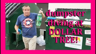 DOLLAR TREE DUMPSTER DIVING ~ CASES OF FOOD JUST THROWN IN THE TRASH! GO TEAM DUMPSTERINO!