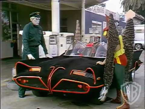 Legends of the Superheores dvd scene: Hawkman, Batmobile and Solomon Grundy