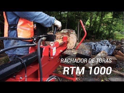 Lippel Log Splitter RTM 1000 working on farm