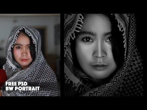Portrait Back and White Photography | Retouching Photoshop Tutorial thumbnail