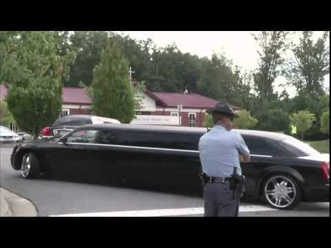 Raw  Bobbi Kristina Brown funeral scene