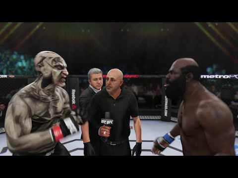 Jeepers Creepers Vs. Kimbo Slice (EA Sports UFC 3) - CPU Vs. CPU - Crazy UFC 👊🤪