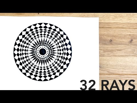 Rays From The Centre ✐ How To Draw Geometric Art | DearingDraws