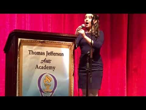 Ariana Montoya. The Star-Spangled Banner. Thomas Jefferson Arts Academy