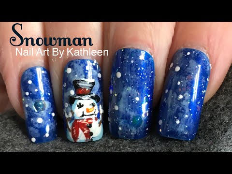 Snowman Nail Art - Winter Nail Design