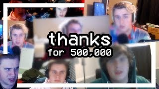 Thanking every single one of my 500,000+ subscribers