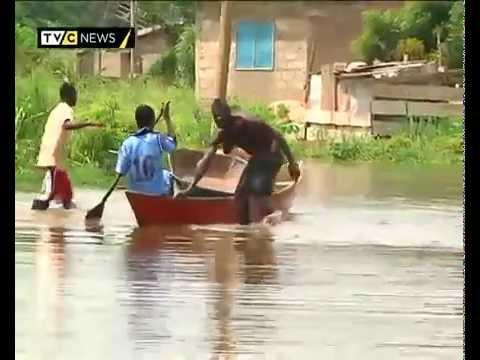 Ghana's Weija dam spillage racks victims in Accra - YouTube