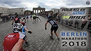 Berlin Marathon FULL RACE 2018 - Powerslide Inline skates   Matter Racing