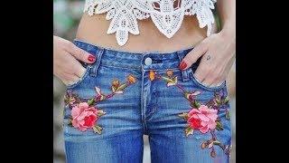 Стильная одежда из старых джинс своими руками.Часть1