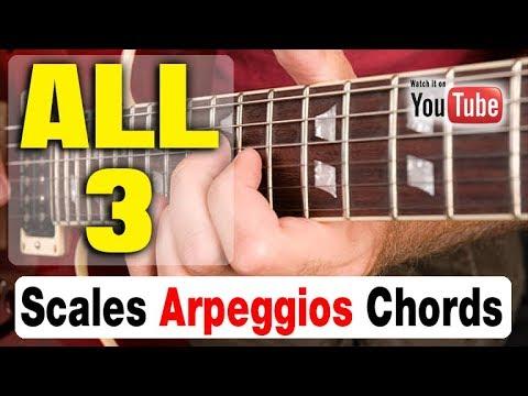 GUITAR DRILL: Scales, Arpeggios, Chords [HIT ALL 3]