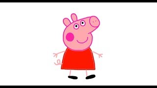 Itsy Artist - How To Draw Peppa Pig From Peppa Pig Cartoon Episodes In Full