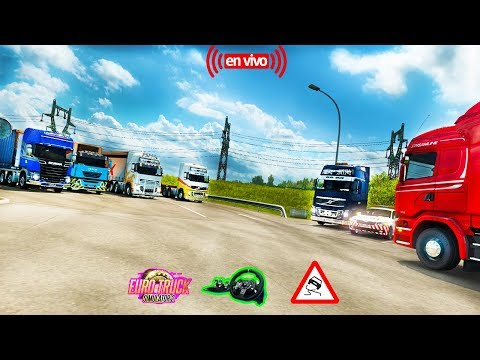 Euro Truck Simulator 2 Multiplayer Convoy--Camion Renault [1.27] HD