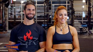 """Seth Rollins and Becky Lynch are featured in """"Muscle & Fitness"""" thumbnail"""