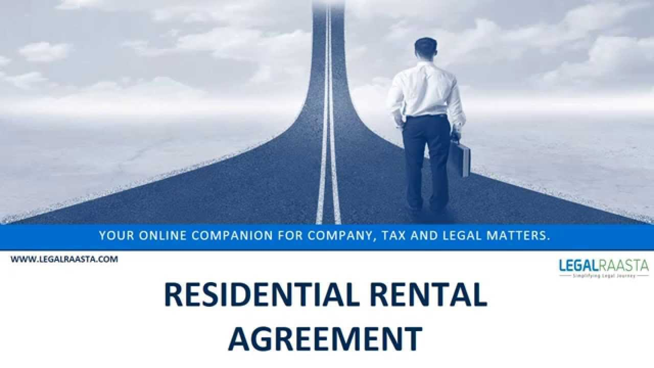 Residential Rental Agreement Format Template Legalraasta Youtube