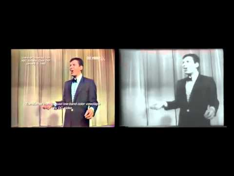 The Jerry Lewis  1960 Color Videotape and B&W Kinescope Comparison