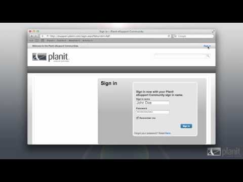 Planit eSupport Online Help Files