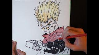 Vash the Stampede - Trigun (Speed Drawing)