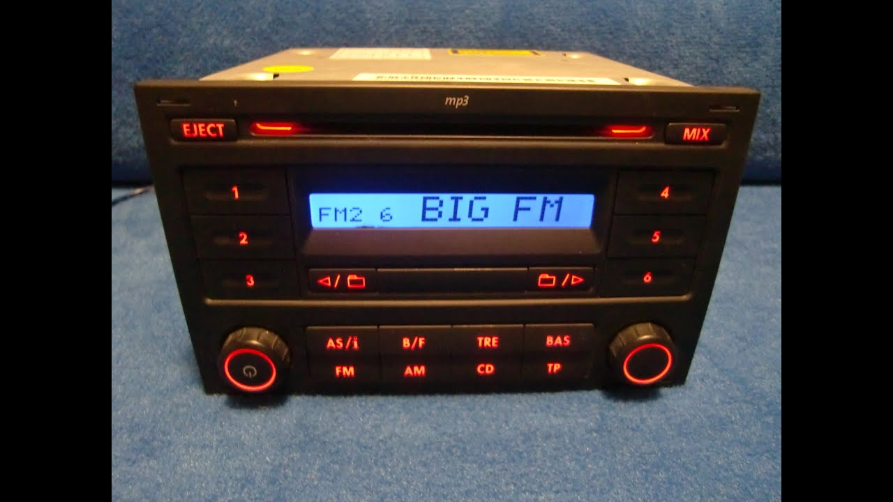 vw rcd 200 mp3 radio autoradio carradio car 6q0035152c. Black Bedroom Furniture Sets. Home Design Ideas