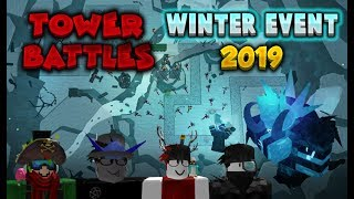 DEFEATED FROSTY!! | ROBLOX - Tower Battles #01 (WINTER EVENT)