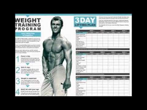 GYM workout chart for men monday to friday - YouTube
