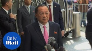 North Korean Foreign Minister says Trump 'has declared war' - Daily Mail